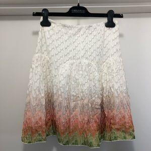 🎁❤️ Missoni orange label runway knit ombré skirt